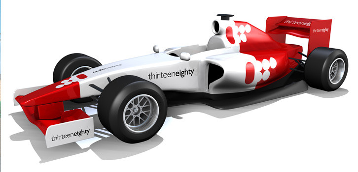 3d F1 Car Thirteen Eighty F Car D