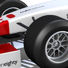 Thirteen Eighty F1 Car 3d model